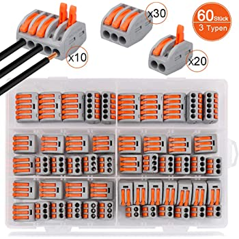 Connecteur /à Ecrou /à levier Connecteurs de fil Compacts Rapide Teur Electrique Connecteur Cable Electrique LT-221 30Pcs Bornes de Connexion Automatique