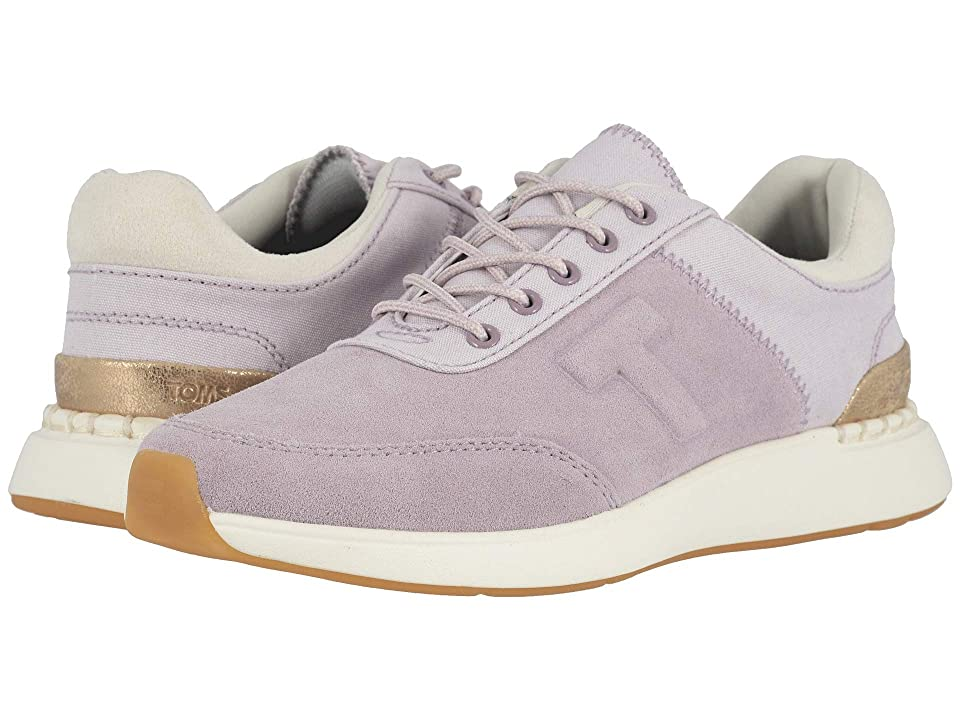 Vintage Sneakers for Men and Women TOMS Arroyo Burnished Lilac SuedeCanvas Womens Shoes $89.95 AT vintagedancer.com