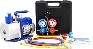 4.8CFM Vacuum Pump with Manifold Gauge Set,A/C HVAC Refrigeration Kit,Evacuation & Recharging | Diagnostic R134a R22 R410a