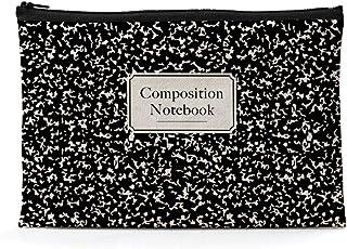 Ihopes Composition Notebook Canvas Zipper Pouch   Library Themed Cotton Canvas Pencil Case/Pencil Pouch/Pen Organizer Bag ...
