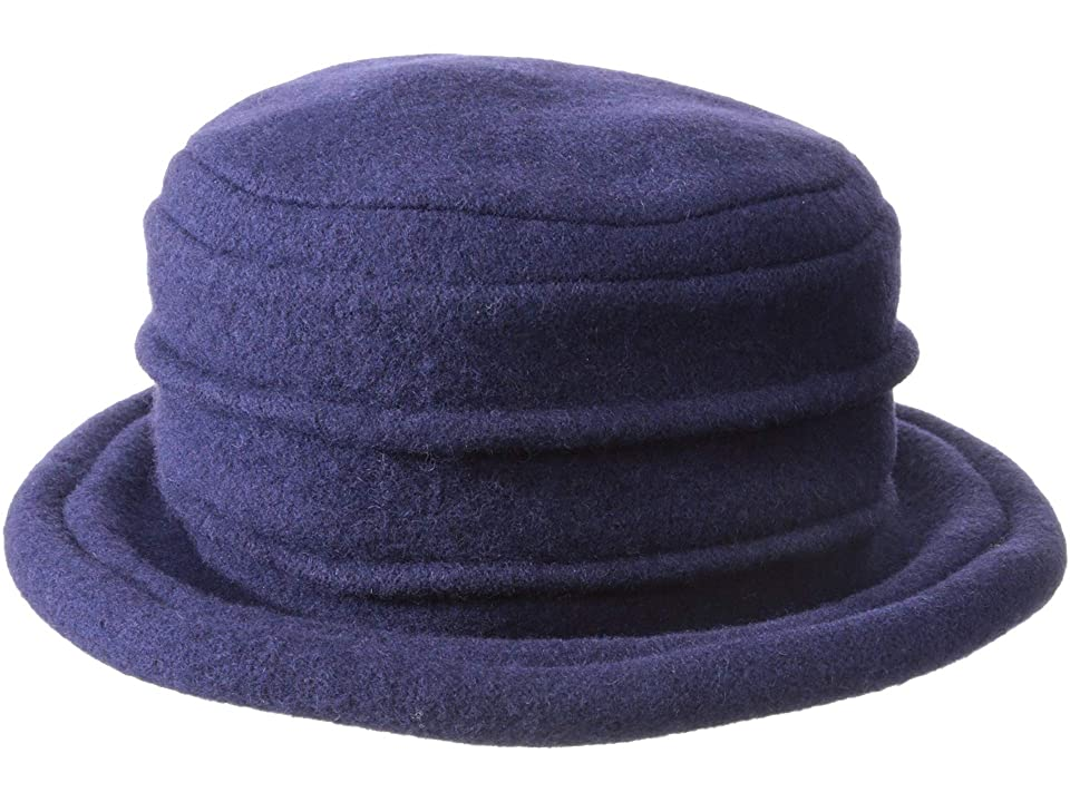 Titanic Hats History – Edwardian Ladies Hats SCALA Packable Wool Felt Cloche Navy Caps $36.25 AT vintagedancer.com