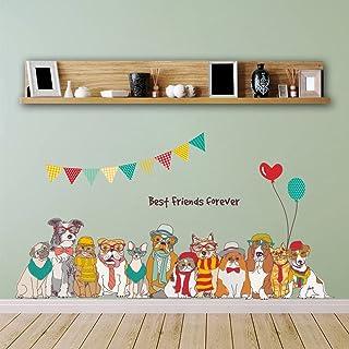 ウォールステッカー かわいい 犬 ワンちゃん 欧米風 DIY 動物ステッカー 子供部屋 ペット病院 賃貸 おしゃれ 壁紙シール インテリア雑貨 はがせる