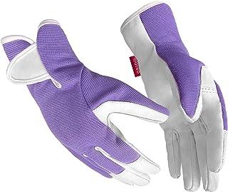 دستکش باغبانی برای زنان - دستکش کار چرمی برای زنان دستکش کار برای باغبانی حیاط با علف های هرز حفر و هرس