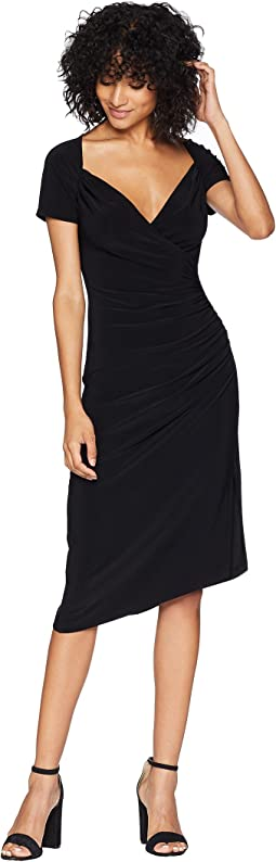 Sweetheart Side Drape Dress