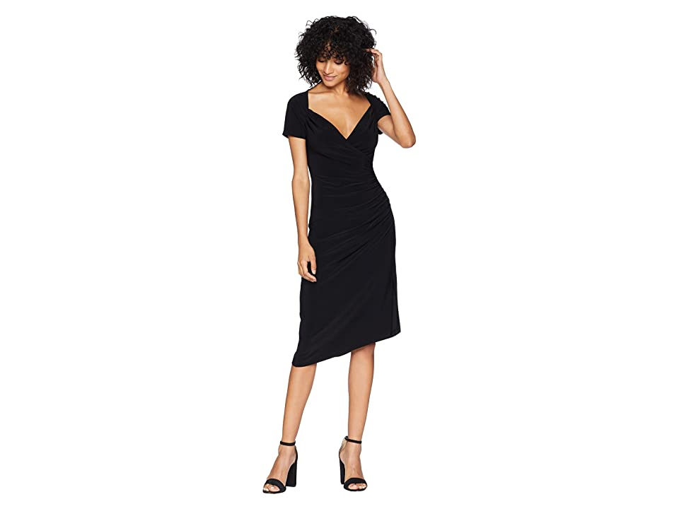 KAMALIKULTURE by Norma Kamali Sweetheart Side Drape Dress (Black) Women