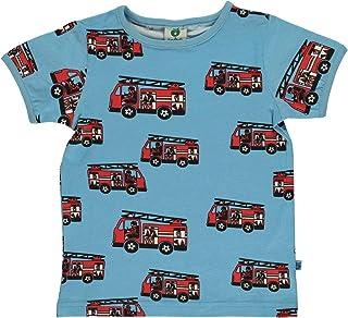 SMAFOLK T-Shirt allover Meerestiere Print creme hellblau 86 92 98 104 110 116