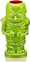 Geeki Tikis Rick & Morty Pickle Rick Mug | Official Rick & Morty Tiki Style Ceramic Mug | Holds 14 Ounces