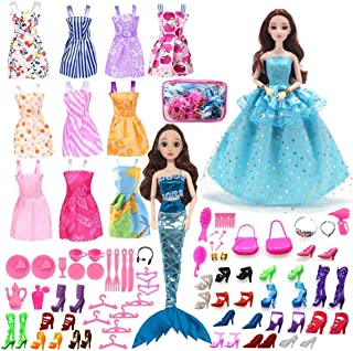 ZtuoYong 72 Pack Doll Clothes Set for Barbie Doll,...
