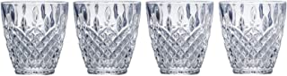 Mikasa Harding Double Old Fashioned Glass, 9.4-Ounce, Set of 4