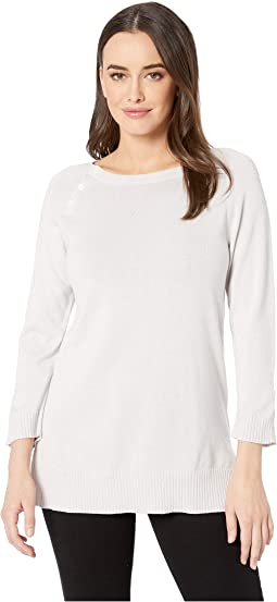 Cotton Modal Button Sweater Tunic
