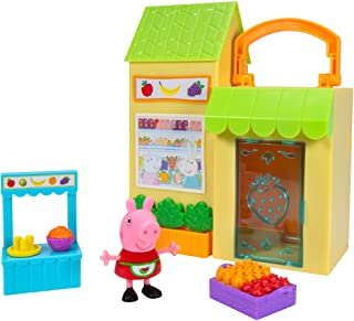 Peppa Pig Little Farmer's Market Playset – 1 Farmer's Market Playset, 1 Exclusive Figure, 1 Basket of Fruits and Veggies, ...
