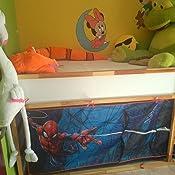 Spiderman Carpa para Cama altillo, Poliéster, Rojo, 80 x 90 x ...