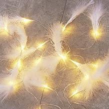 DEDC 9.8 Ft 20 LED Veer String Lights Veren Garland Batterij Operate Fairy String Lights Opknoping voor Bruiloft Party Hom...