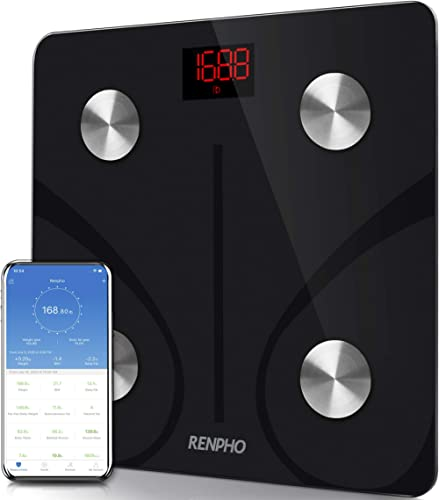 RENPHO Bluetooth Body Fat Scale - Smart Bmi Scale Digital Bathroom Weight Scale, Body Composition Analyzer with Smart...