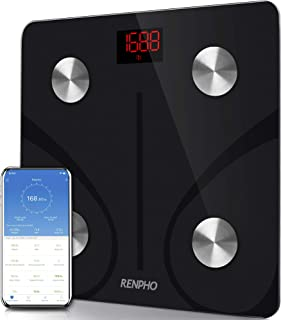 RENPHO Bluetooth Body Fat Scale Smart BMI Scale Digital Bathroom Wireless Weight Scale, Body Composition Analyzer with Sma...