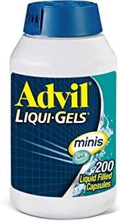 Best Advil Liqui-Gels Minis Pain Reliever and Fever Reducer, Ibuprofen 200mg, 200 Count, Fast Pain Relief Review