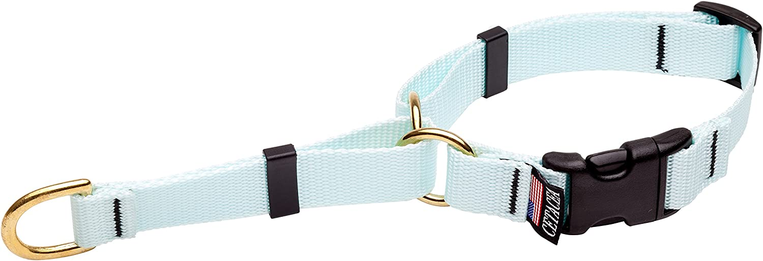 Cetacea Soft Martingale Collar with Quick Release, XSmall, Baby bluee