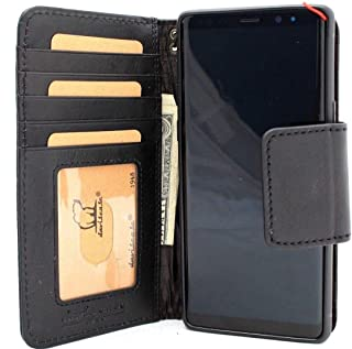 Genuine Leather Case for Samsung Galaxy Note 9 Book Wallet Luxury Cover S Handmade Soft Magnetic Holder Cards daviscase