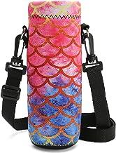 RICHEN Neoprene Water Bottle Carrier Bag with Adjustable Shoulder Strap,Insulated Water..
