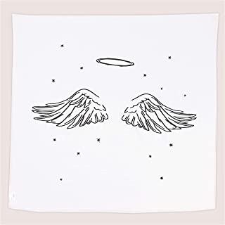 Ocean Drop Black and White Baby Swaddles (Angel Wings) Baptism Gift for Boys and Baby Girls. Christening Gift for Girls and Boys. Goddaughter and Godson Gifts. Newborn Swaddle