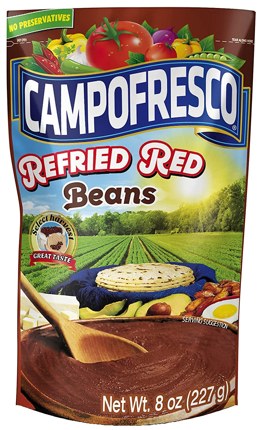 Refried Red Beans Frijoles Deluxe Rojos 8oz 227gr Max 44% OFF 100% Refritos