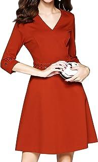 【新款女装上市】PINGORA 连衣裙 2019 新款女士夏季欧美风格简洁优雅大方纯色修身齐膝通勤气质连衣裙