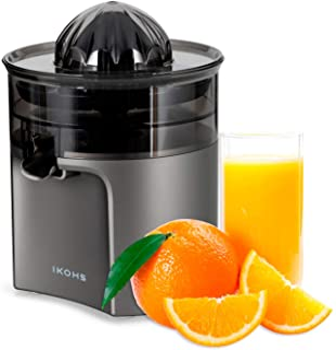 IKOHS Exprimidor Eléctrico de Naranjas y cítricos, 40 W, Apto para lavavajillas, grisfrecuencia 50-60Hz, Libre de BPA, con...