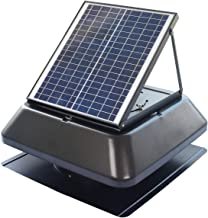 iLIVING Smart Exhaust Solar Roof Attic Exhaust Fan, 14, Black (Renewed)