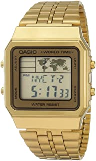 CASIO Men's Digital World TIME A500WGA-9DF Stainless...