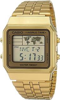 """ساعة رقمية للرجال من """"كاسيو"""" شاشة رقمية بسوار من الستانلس ستيل"""