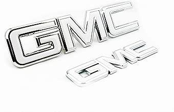 Truck Emblem Warehouse 2 New Custom White & Chrome Yukon XL Denali 2015-2019 Grill Tailgate Set