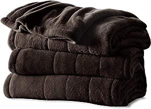 Sunbeam Heated Blanket   Microplush, 10 Heat Settings, Walnut, King - BSM9KKS-R470-16A00