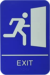 ADA Compliant Braille Exit Sign