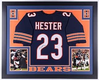 Devin Hester Signed Bears 35x43 Custom Framed Jersey (JSA COA) 4x Pro Bowler