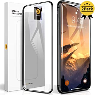【Humixx】iPhone 11 ガラスフィルム iPhone XR ガラスフィルム 2枚入り 日本旭硝子製 最高硬度10H 強化ガラス 9Dラウンドエッジ加工 全面保護 ガイド枠付き 貼りやすい 高鮮明 透過率99.9% 気泡防止 指紋防止
