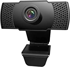 HD 1080P Webcam with Microphone USB Webcam for PC/Desktop/Laptop/Mac/TV Streaming Computer Web Camera for Video Calling Re...
