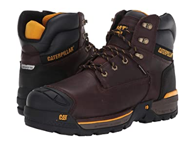 Caterpillar Excavator LT 6 Waterproof Composite Toe (Espresso Full Grain Leather) Men
