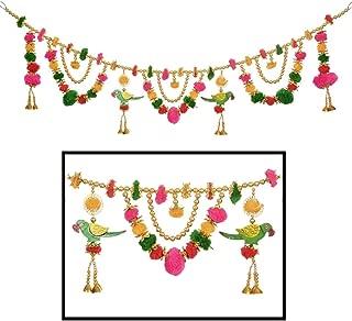 Amba Handicraft Door Hanging Toran Window Valance Dream Catcher Home Décor Interior Pooja bandanwaar Diwali Gift Festival Colorful Indian Handicraft Love.TORAN 209