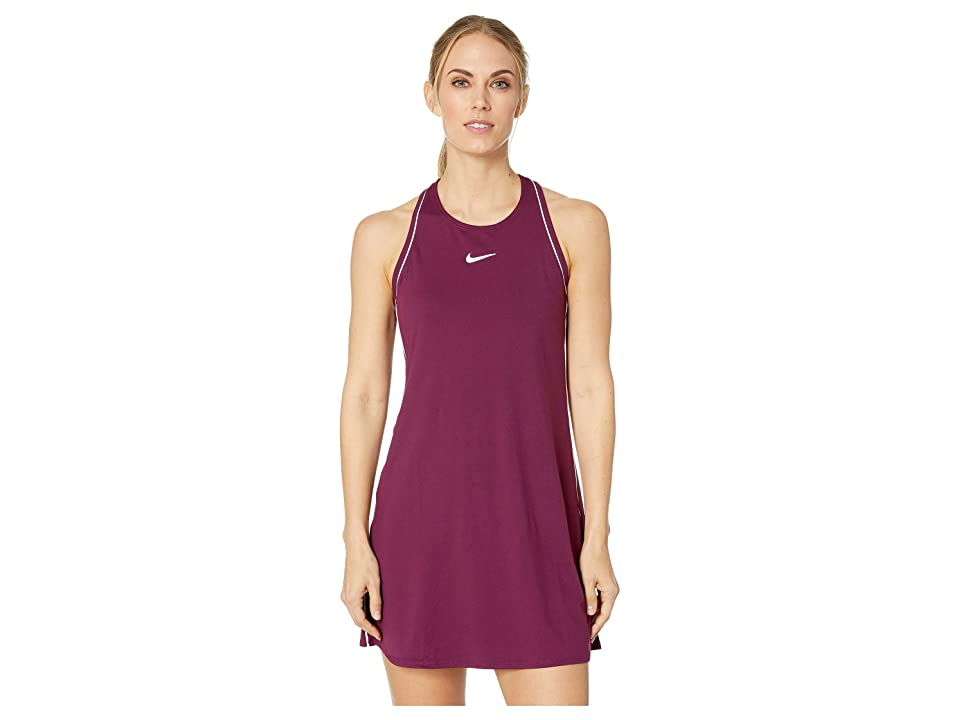 Nike Court Dry Dress (Bourdeaux/White/White/Bordeaux) Women