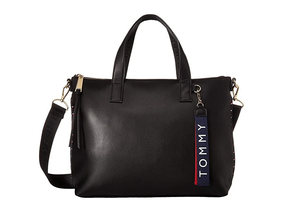 Tommy Hilfiger Devon Convertible Shopper (Black) Handbags