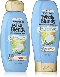 Garnier Whole Blends Haircare Hydrating Shampoo & Conditioner Set, 12.5 FL OZ