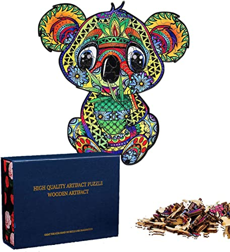 popular OPTIMISTIC high quality Unique Shaped Wooden Jigsaw Puzzles - Baby Koala - Wooden Puzzle Jigsaw, Best Gift for Adults and Kids, sale Pieces, 4MM Thick Pieces, Home Holiday Decor Puzzle in Beautiful Box (Baby Koala, M) sale