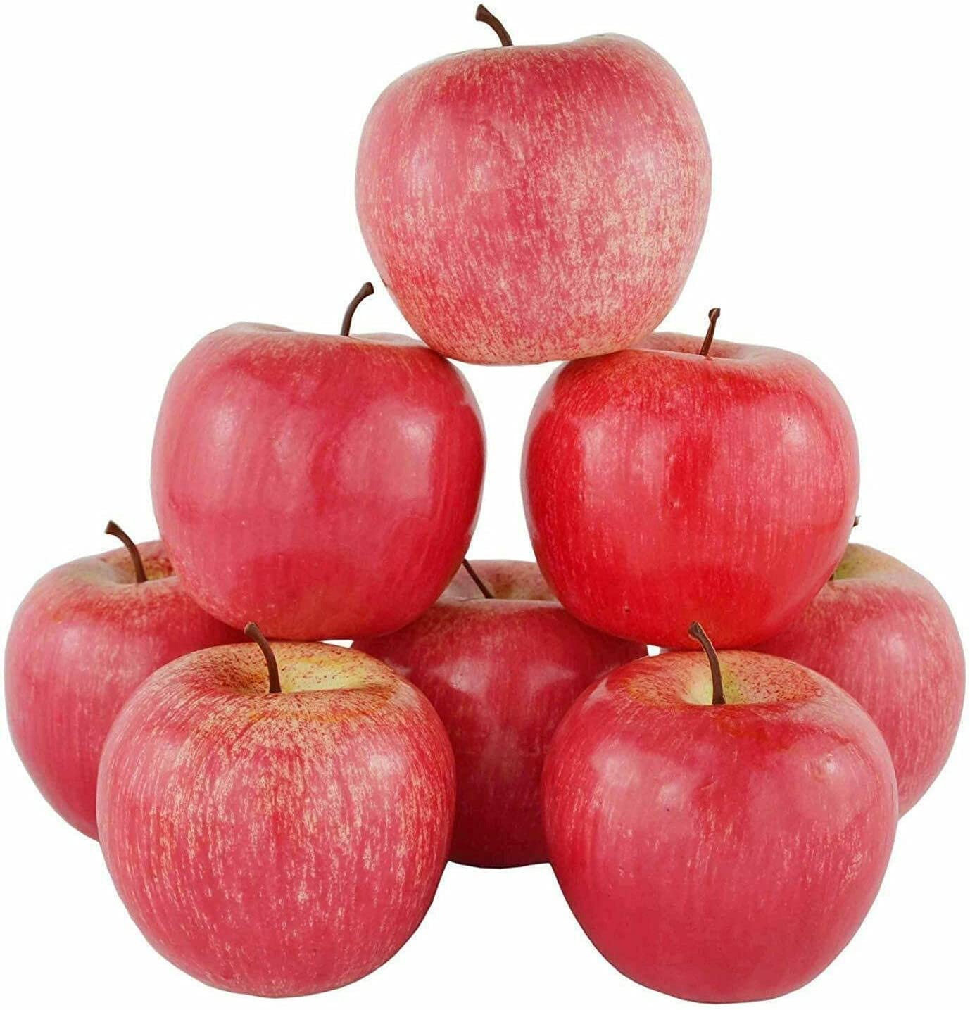 12pcs Artificial Fruit red Apple Plants Weekly update Party OFFicial store Home Fruits Office