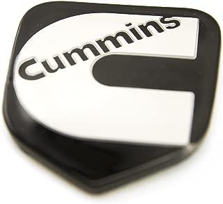 1 NEW 94-02 CUMMINS SECOND GEN BLACK & WHITE CUSTOM GRILL EMBLEM BADGE
