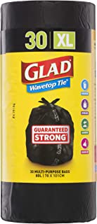 Glad Wavetop Tie Garbage Bag Roll, 30 count