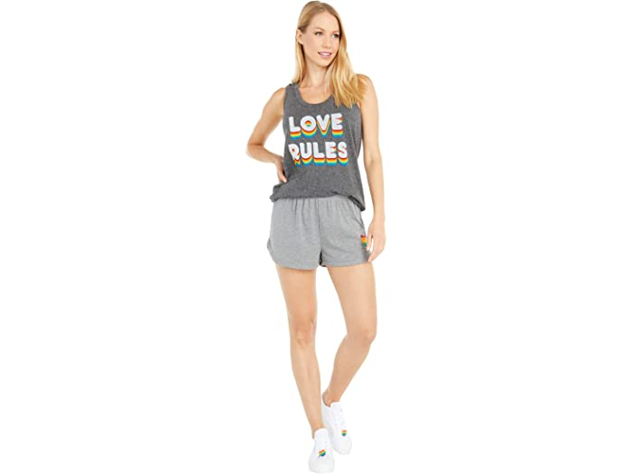 P.j. Salvage Love Rules Heart Shorts Heher Grey