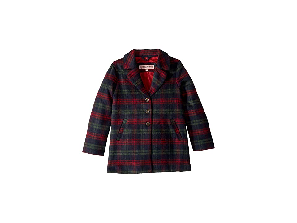 Urban Republic Kids Charlotte Long Length Wool Coat (Little Kids/Big Kids) (Heather Green) Girl