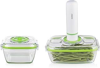 Princess 01.492985.01.001 492985 Hand Vacuüm Sealer set – Inclusief elektrische vacuümpomp en 2 oven- en vershoudschalen, wit