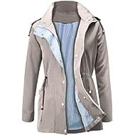 FISOUL Raincoats Waterproof... FISOUL Raincoats Waterproof Lightweight Rain Jacket Active Outdoor Hooded Women's Trench Coats