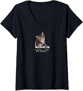 Funny Cat Kitten V-Neck T-Shirt